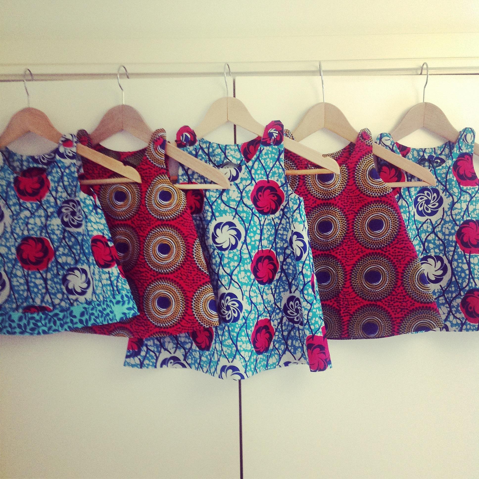 df22e42a6 Five more African print girls  dresses