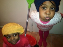 L2 and L1 in their berets