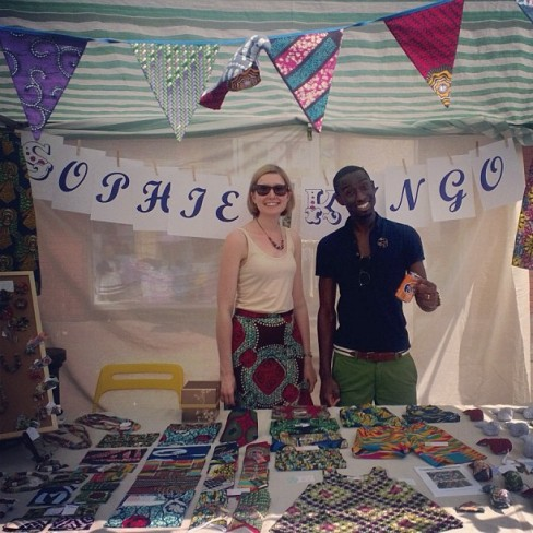 Me and the hubby selling on the inaugural Sophie Kingo market stall