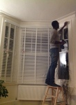 Hanging the blinds
